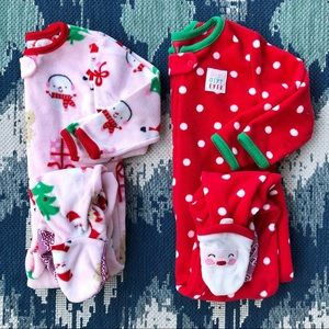 Christmas Fleece Pajama Set - Girls 18M VGUC🎄❤️
